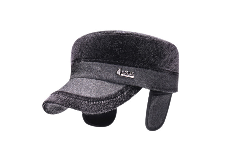 683054fd71a68 AETRENDS Flat Hat with Earflaps Russian - KWNSHOP