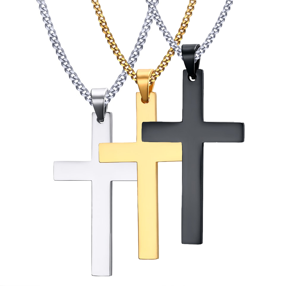 Cross necklaces pendant for men fine stainless steel jewelry 316l cross necklaces pendant for men fine stainless steel jewelry 316l kwnshop aloadofball Images