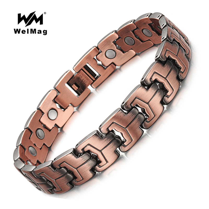 Welmag Magnetic Health Bracelets Improve Blood Circulation Copper Bracelet Kwn