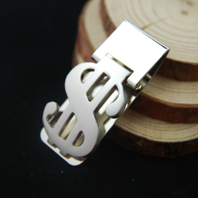 $ Zinc Alloy Steel Money Clip