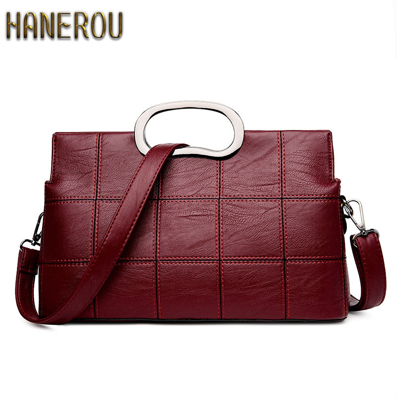 HNU Luxury Leather Women Messenger Bag
