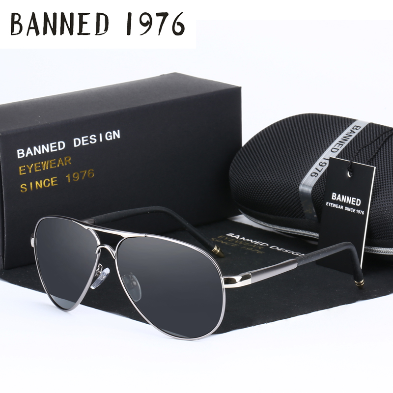 BA Polarized Aviator Sunglasses