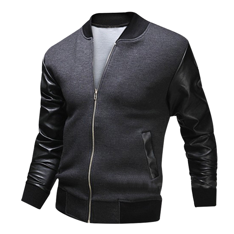 Uniform Leather Sleeve Jacket