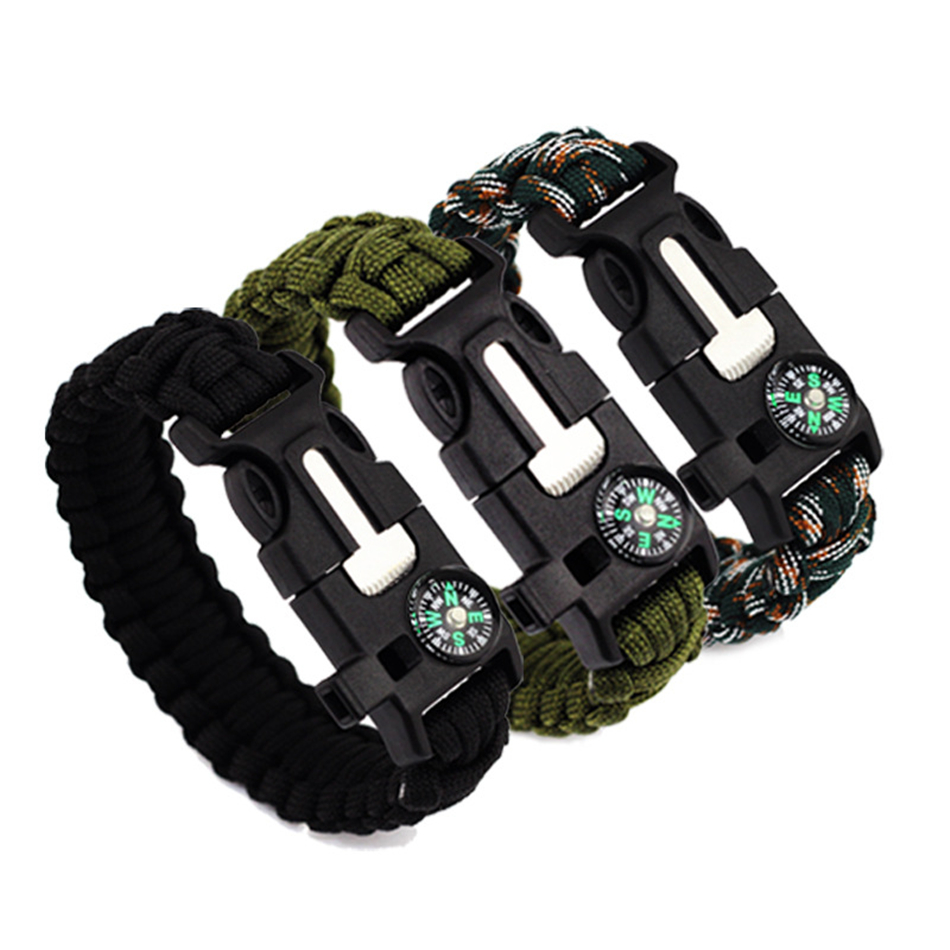 Emergency Survival Compass Paracord Bracelet