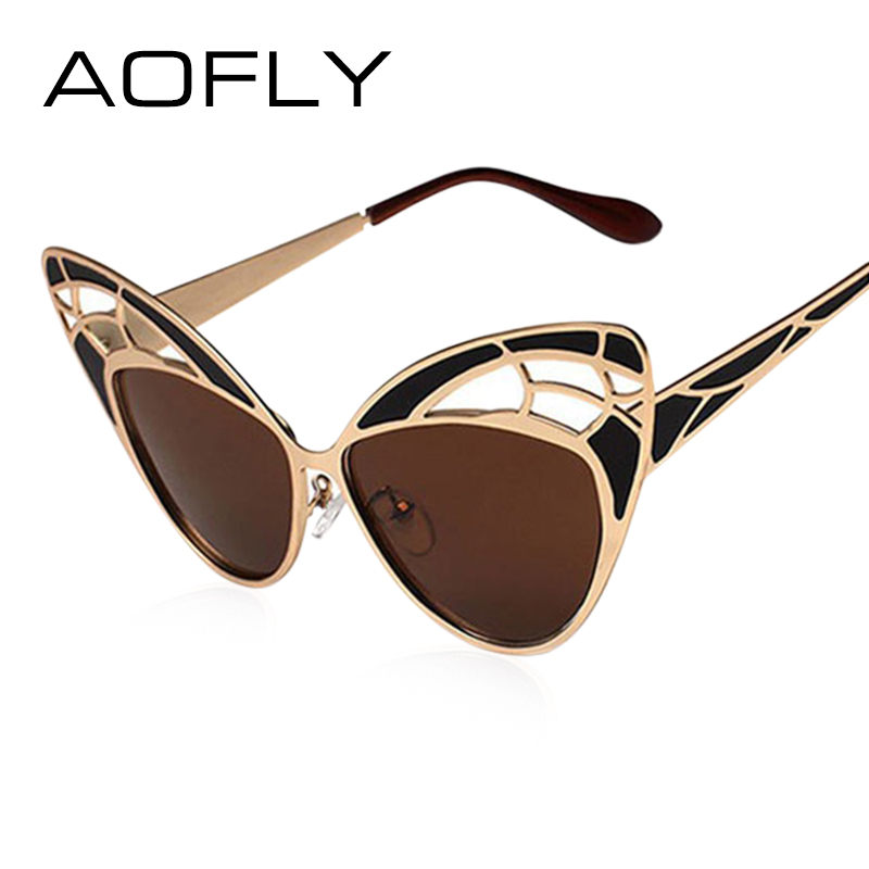 AO Alloy Frame Women Cat Eye Sunglasses 826