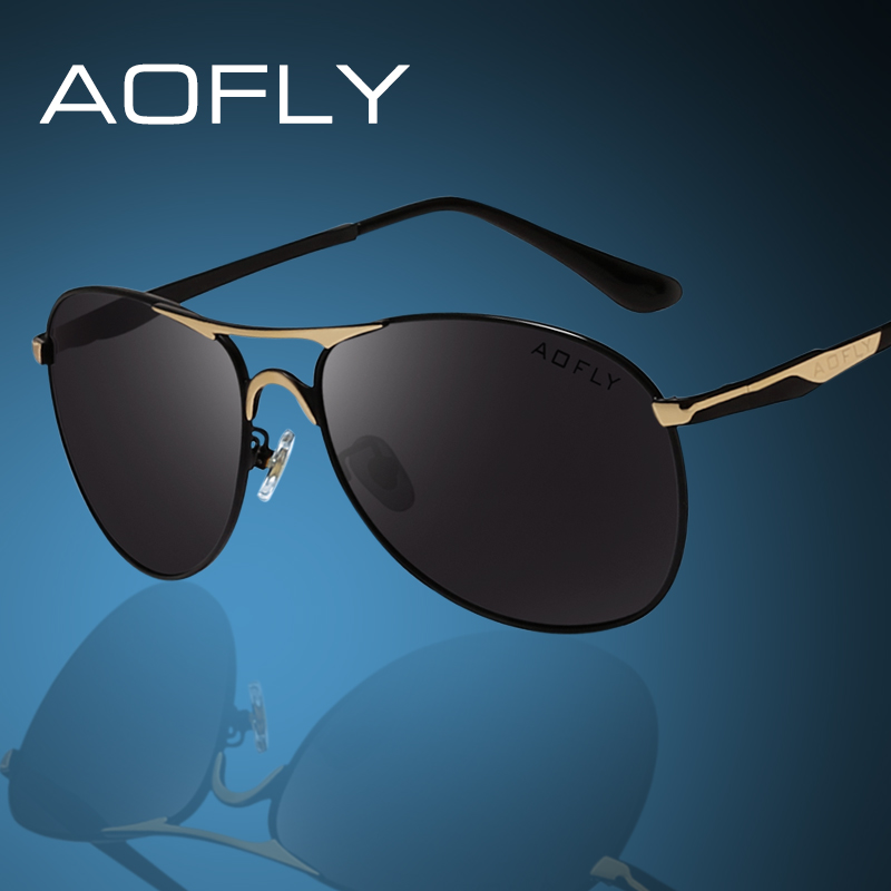 AOF Polarized Metal Frame Sunglasses