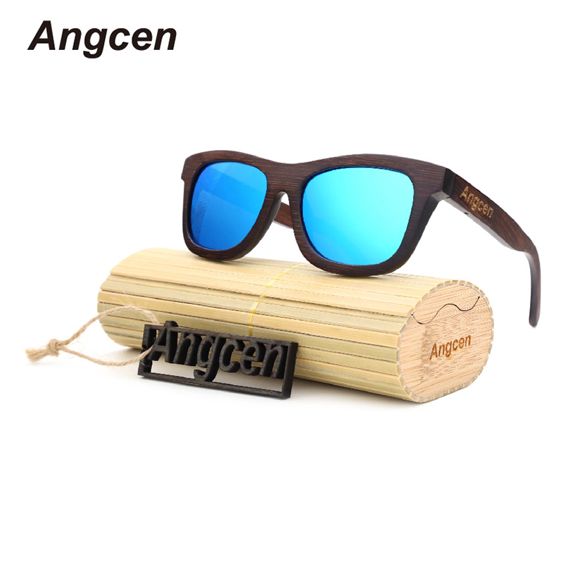 AN Wooden Frame Bamboo Sunglasses ZB