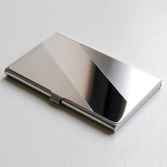 Stainless steel card business card holder wallet id credit card stainless steel card business card holder wallet id credit card holder colourmoves