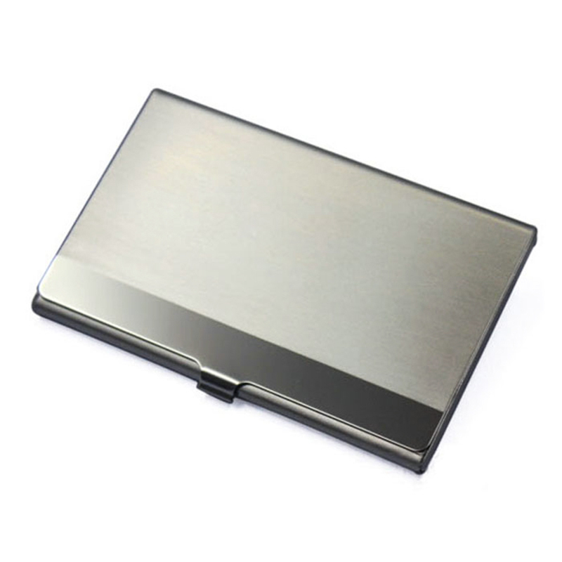 Stainless Steel Card Business Card Holder Wallet ID Credit Card ...