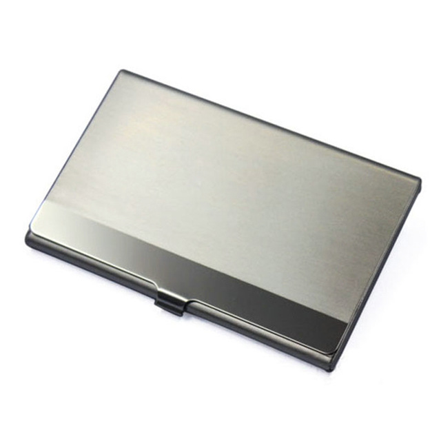 stainless steel card business card holder wallet id credit card holder kwnshop - Business Card Wallet