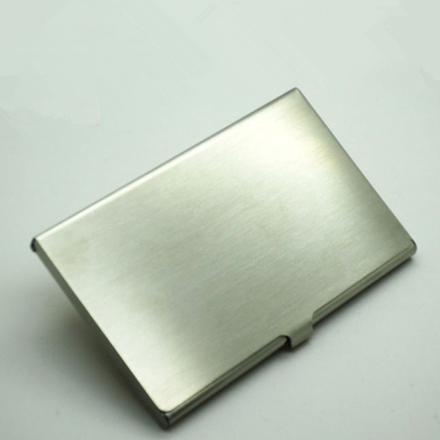Stainless steel card business card holder wallet id credit card stainless steel card business card holder wallet id credit card holder kwnshop colourmoves