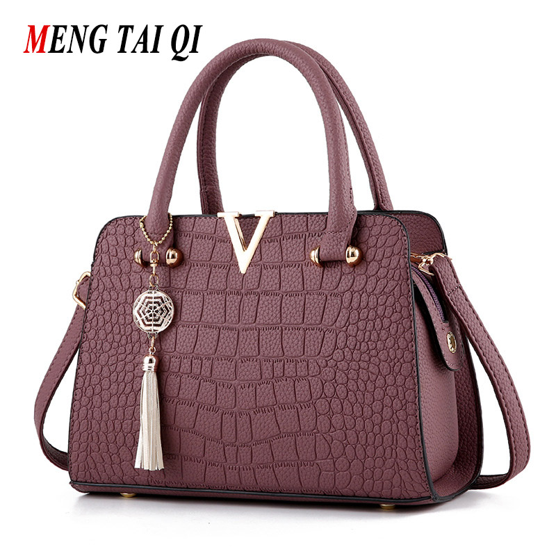 Crocodile Pattern Women Shoulder Bag