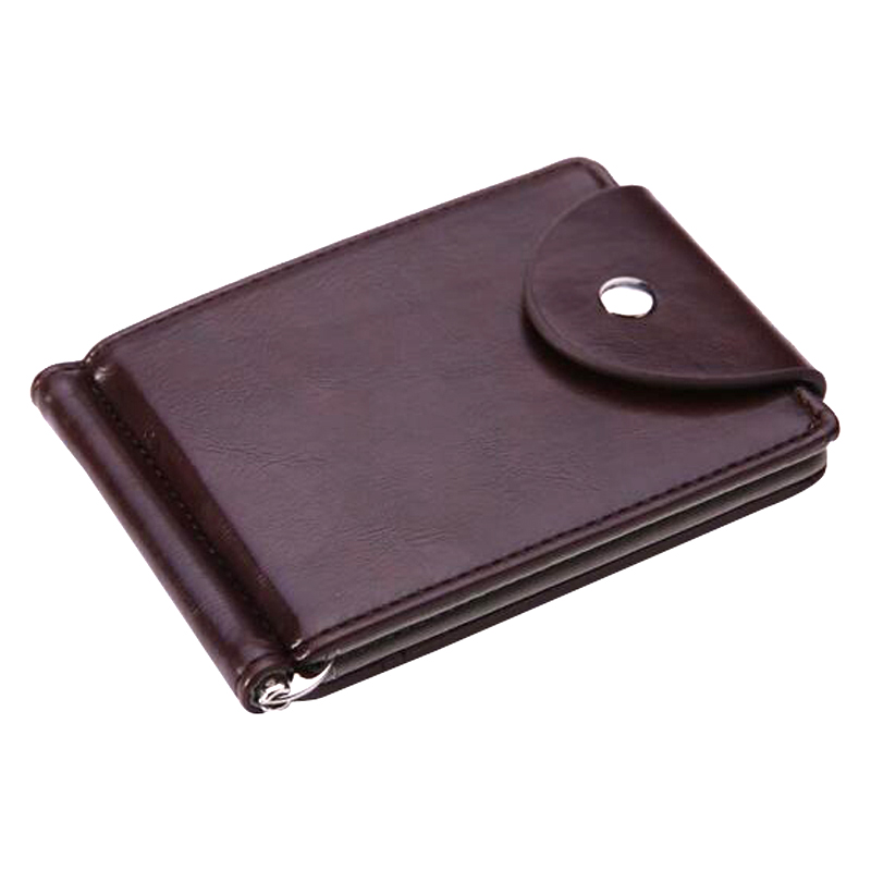 FL Slim Leather Money Clip Wallet With Clamp