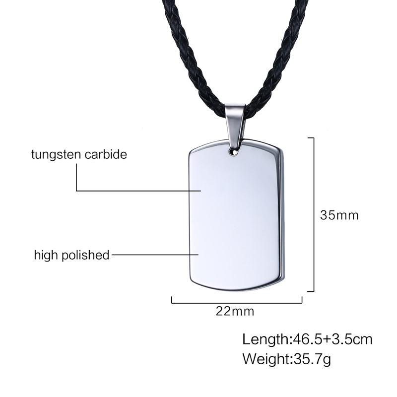 Tungsten carbide dog tag pendant necklace kwnshop tungsten carbide dog tag pendant necklace aloadofball