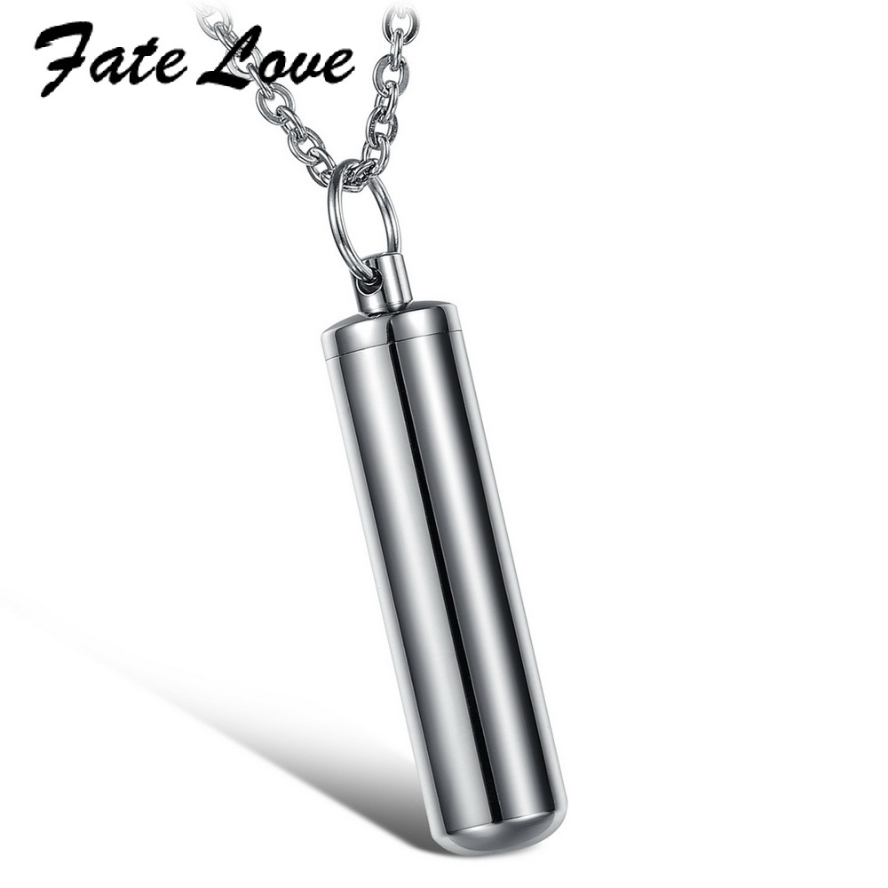 Titanium Stainless Steel Keepsake Bottle Pendant