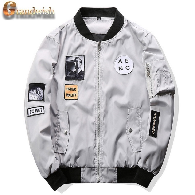 Patchwork Designs Slim Fit Bomber Jacket
