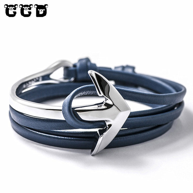 Leather Multilayer Anchor Bracelet Jewelry