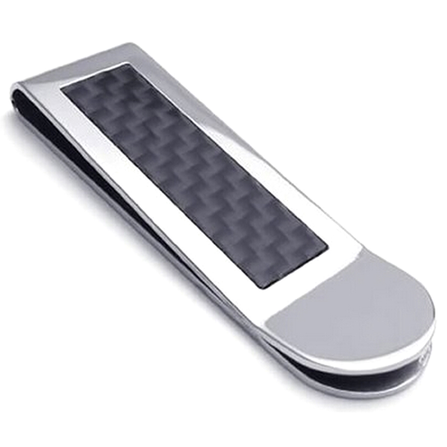 Stainless Steel Carbon Fiber Money Clip