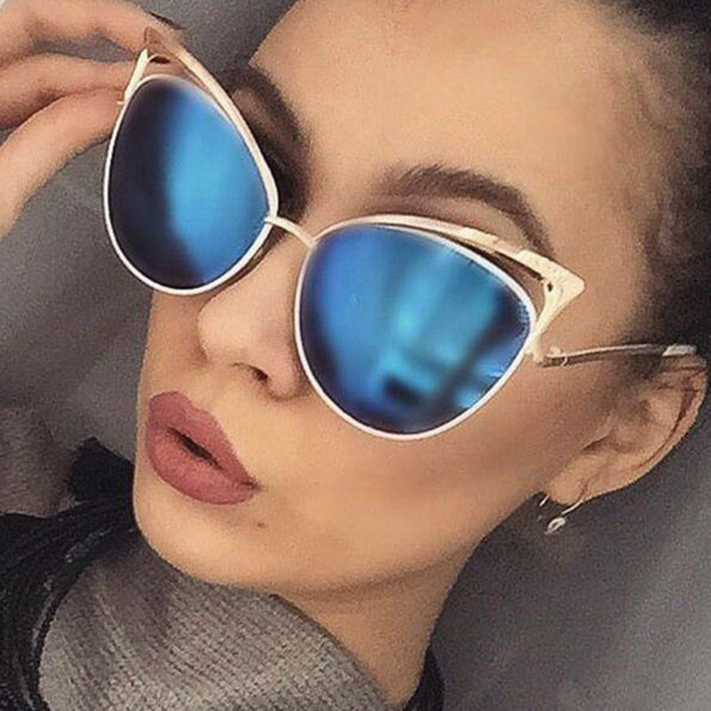 Alloy Frame UV400 Ladies Cat Eye Sunglasses