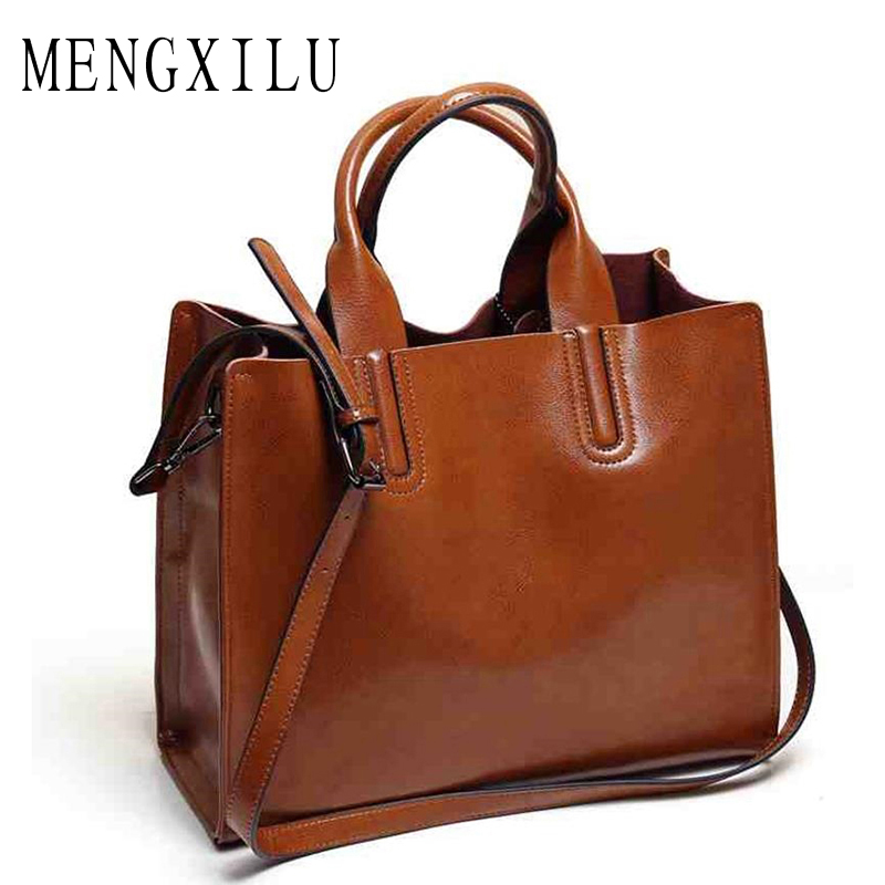 Leather Big Casual Womens Trunk Tote Bag