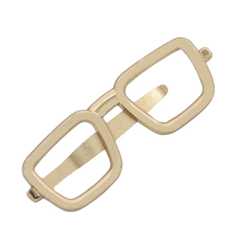 Square Glasses Shape Tie Bar