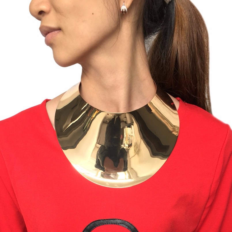 Alloy Torque Choker Necklace For Women