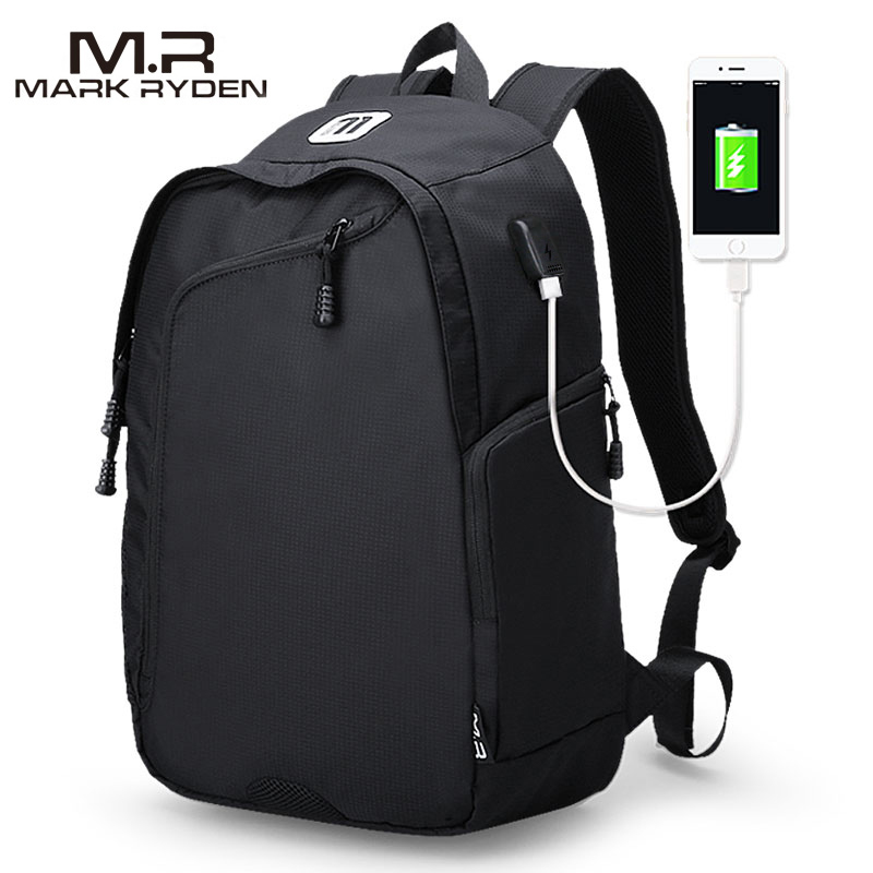 MR Multifunction 14inch Laptop USB Charging Backpack