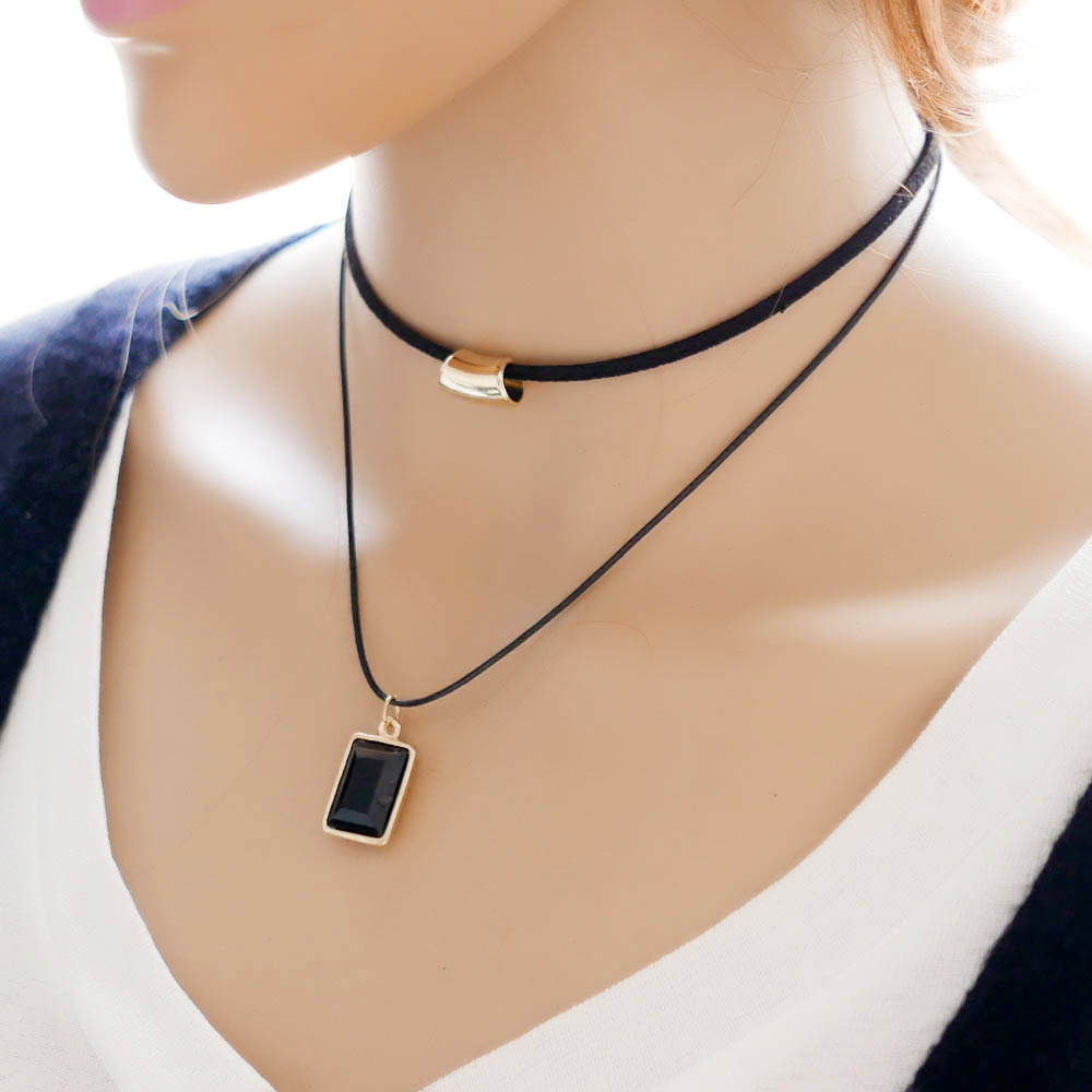 Double Layer Short Necklace