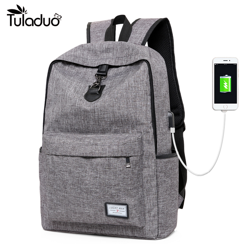 USB Charging Men's Backpack