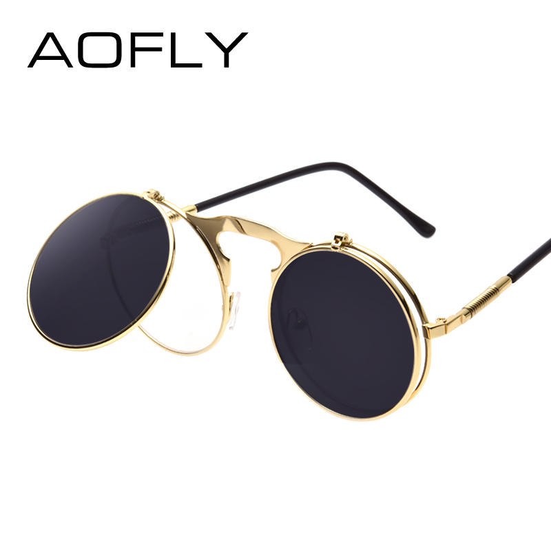 AO Vintage Steampunk Sunglasses 569