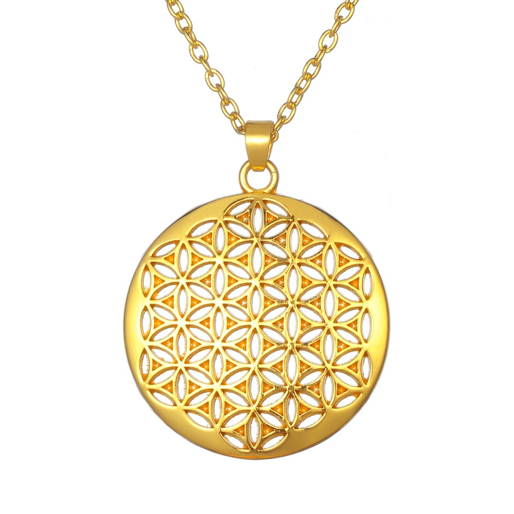 Flower of life sacred geometry necklace pendant kwnshop aloadofball Gallery