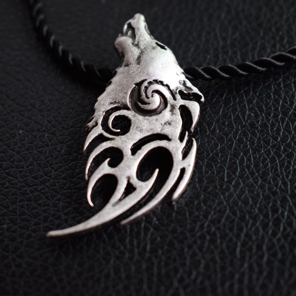 Howling wolf pendant necklace kwnshop howling wolf pendant necklace aloadofball Choice Image