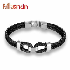 MKENDN-New-Fashion-Womens-Mens-Bracelet-Black-2-Strands-Rope-Handmade-Leather-Friendship-Wristband-Chain-buckle-6.jpg