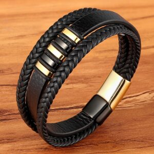 New-3-Layers-Black-Gold-Punk-Style-Design-Genuine-Leather-Bracelet-for-Men-Steel-Magnetic-Button.jpg